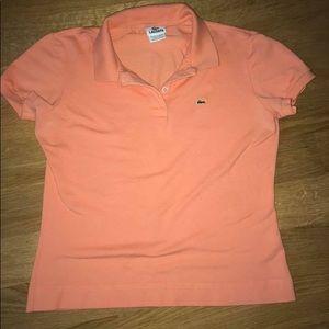 Lacoste women's orange polo. Size 44